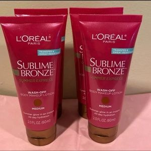 (4) NWT L'Oréal Sublime Bronze Body Makeup Lotion